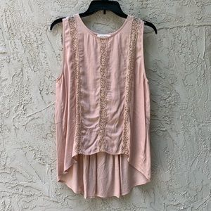 Blush Colored Lace Tank Top